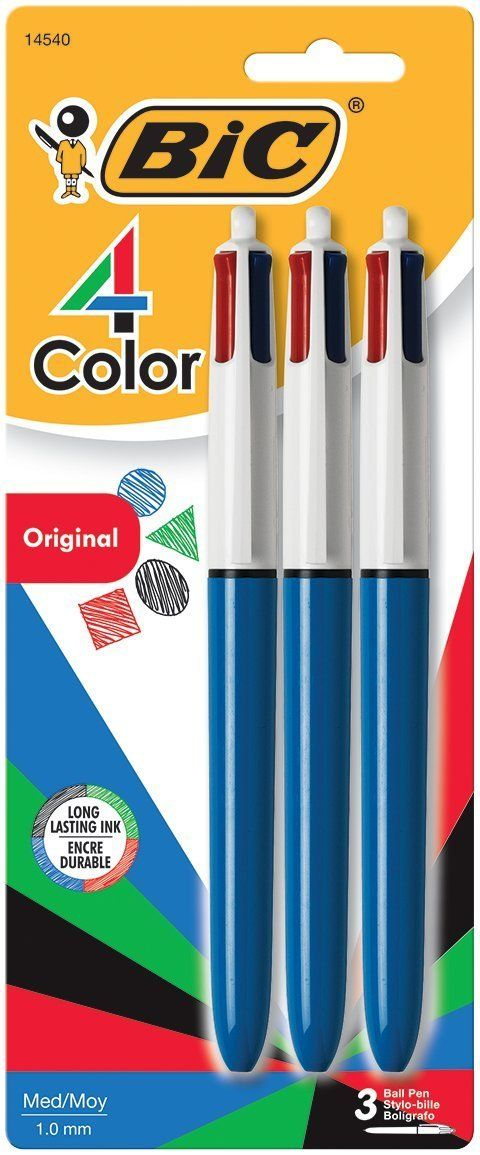 ★★★ 🅽🅴🆆 ★★★ BIC 4-Color Ball Pen 3 pack on Sale for $3.49 (Reg. $6):   Save 42% off this very popular pen.   Amazon has BIC 4-Color Ball…