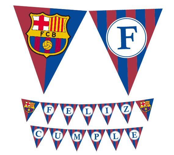 Barcelona banderin Feliz cumple #barcelona #felizcumple #banderin #banner #cumpleaños #futbol #deco