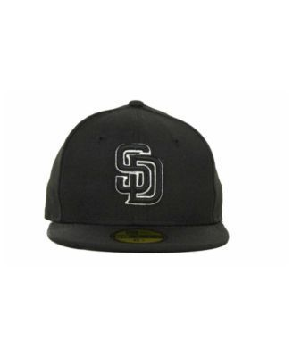 New Era Kids' San Diego Padres Mlb Black and White Fashion 59FIFTY Cap - Black 6 1/2