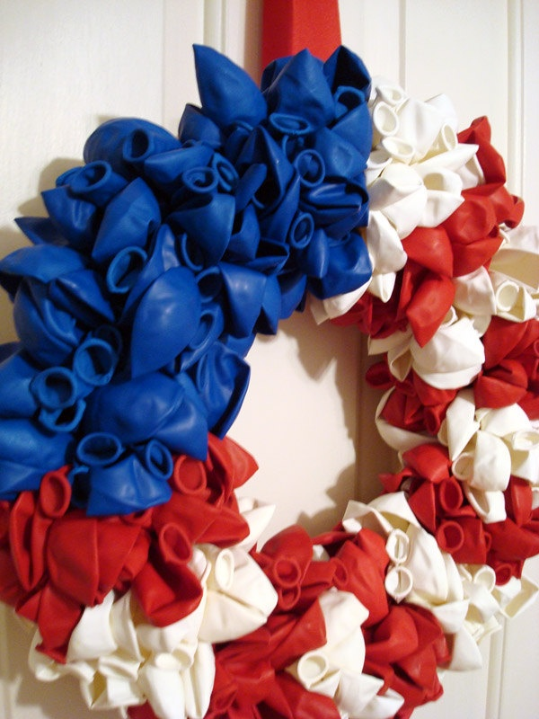 4th of July Balloon Wreath. $38.00, via Etsy.