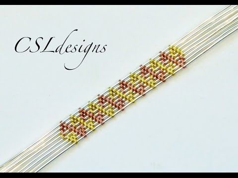 Double aztec wire weave ⎮ Wire weaving series ~ Wire Jewelry Tutorials