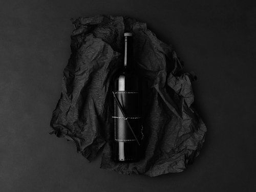 Goal-Setting Wine Branding - This Wine's Monochrome Bottle Was Designed to be Personalized (GALLERY)