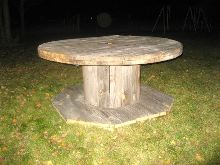 Wooden Spool To Dining Table Diy Pinterest