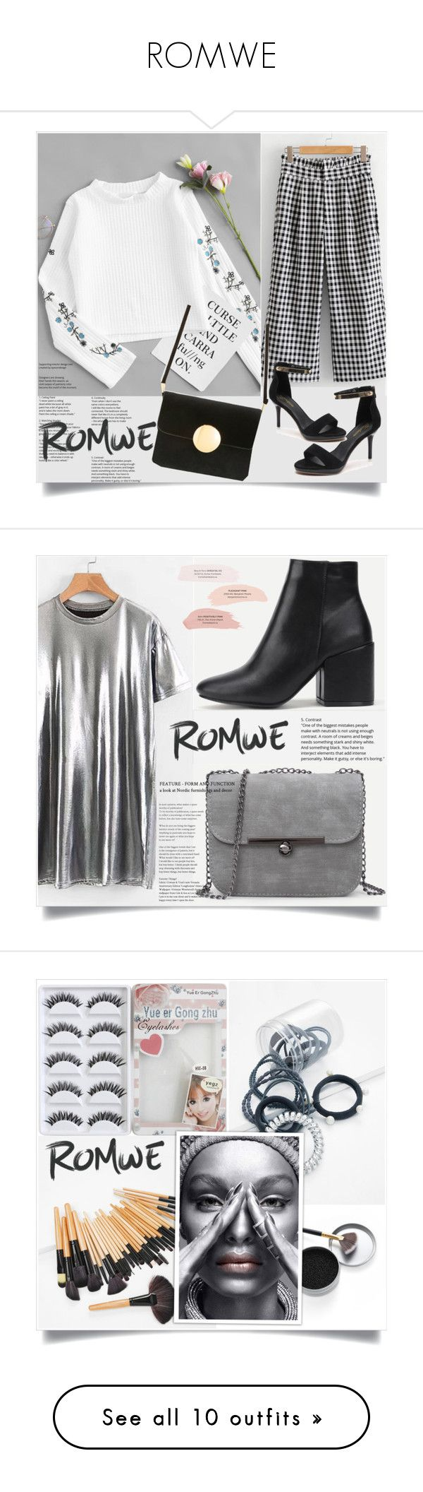 """ROMWE"" by zenabezimena ❤ liked on Polyvore featuring romwe, polyvoreeditorial, makeup, romwefashion, Christian Dior and Oris"