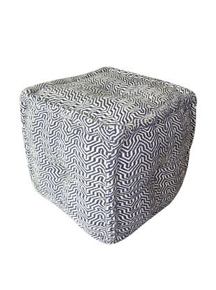 63% OFF Boheme Collection Cotton Pouf, Cube, Multi