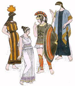 """Greeks would wear """"Petasos"""", which we know as hats. They appeared around 1200 BC and were made to protect the greeks from weather. Just like in the photo, the """"Petasos"""" would have chin straps so when they were not being used the hat would still ahng down the greeks back."""