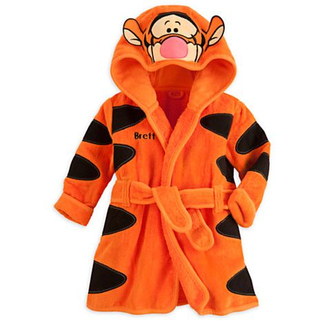 Tigger Bath Robe for Baby - Personalizable SO WANT THIS FOR ETHAN!! :)