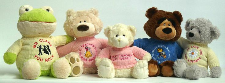 Gift ideas for teacher? Be the teacher's pet. Give a personalised teddy bear as a teacher present.  They'll love it!