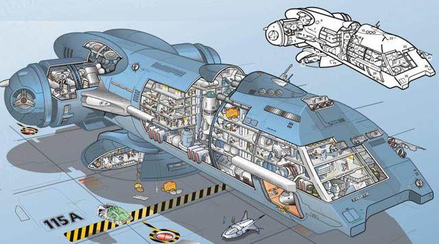 """Tronnak"" ship from Perry Rhodan series - Dark Roasted Blend"
