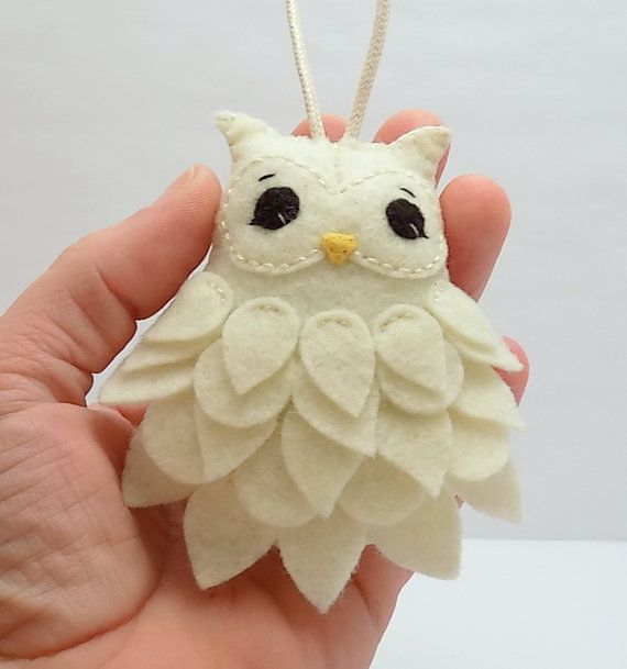 Felt Owl Ornament by BananaBugAndZod on Etsy