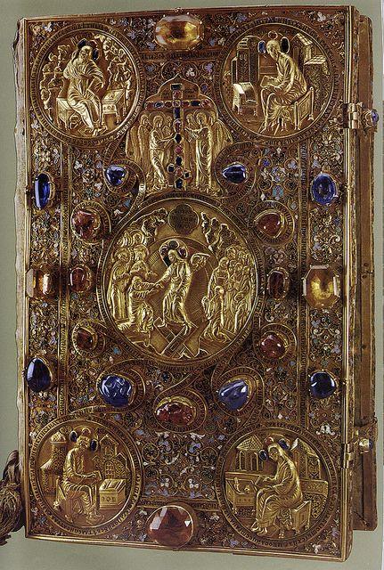 russianEnamels-Оклад Евангелия. 1571.  Мастерские Московского Кремля