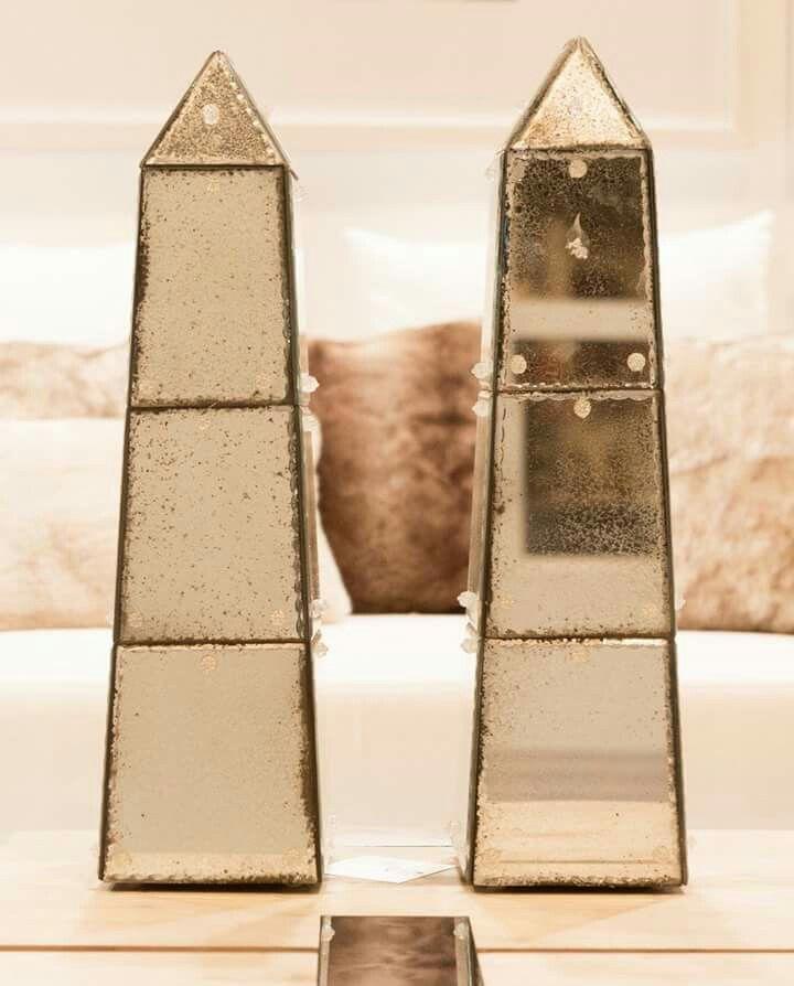 Decoración - obeliscos espejo