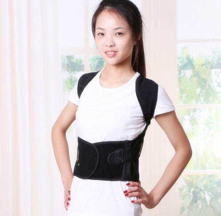 HealthSweet Unisex Adjustable Back Posture Corrector Brace Back Shoulder Support Belt Posture Correction Belt for Men Womenomen