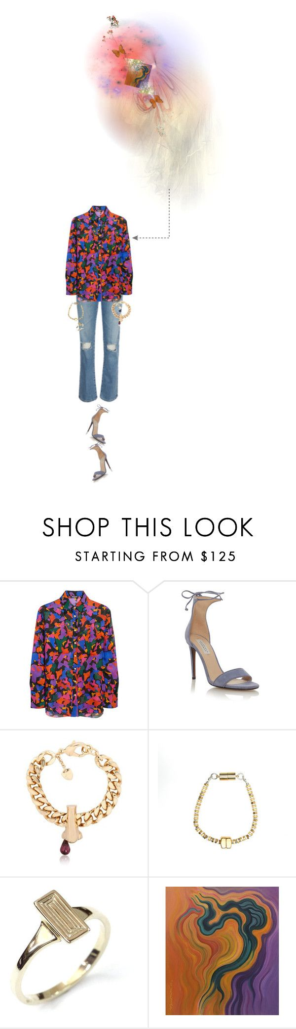 """""""Untitled #1426"""" by maja-z-94 ❤ liked on Polyvore featuring Balmain, Gabriela Hearst, Schield Collection, Alice Menter, Flake and NOVICA"""