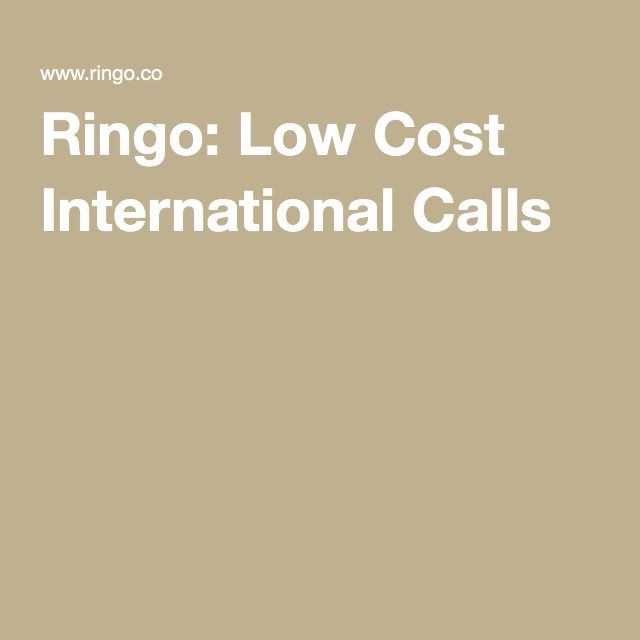 Ringo: Low Cost International Calls