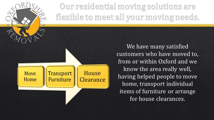 Our residential moving solutions are flexible to meet all your moving needs. We have many satisfied customers who have moved to, from or within Oxford and we know the area really well, having helped people to move home, transport individual items of furniture or arrange for house clearances.