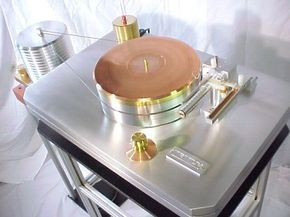 TRITIUM AIR BEARING BRASS PHONO TURNTABLE RECORD PLAYER
