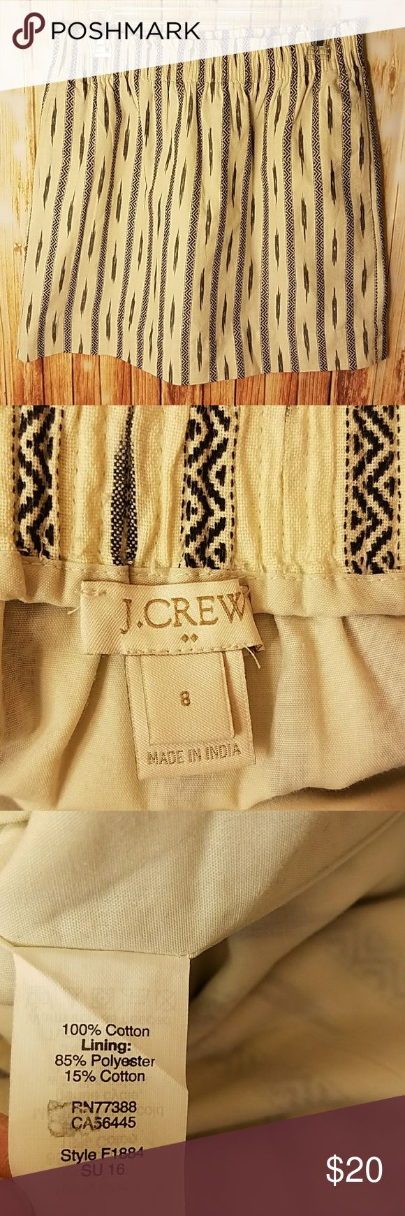 J. Crew factory mini tribal print skirt J. Crew factory mini tribal print skirt. Approx 17.5 inches long. EUC J. Crew Factory Skirts Mini