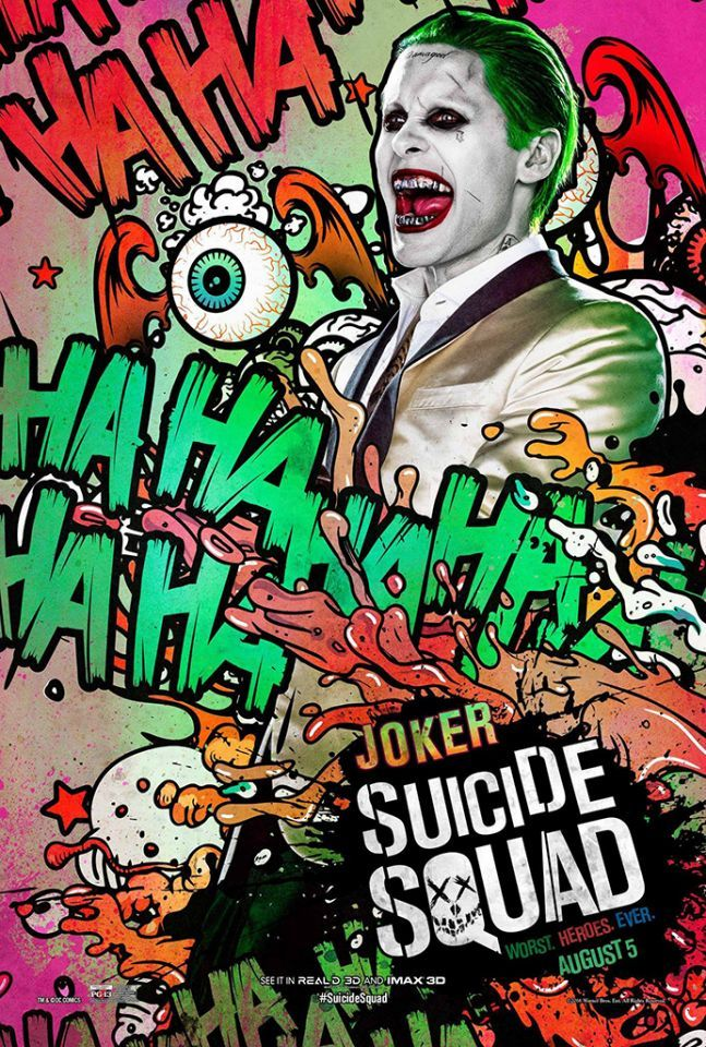 Suicide Squad posters : Jared Leto est le Joker
