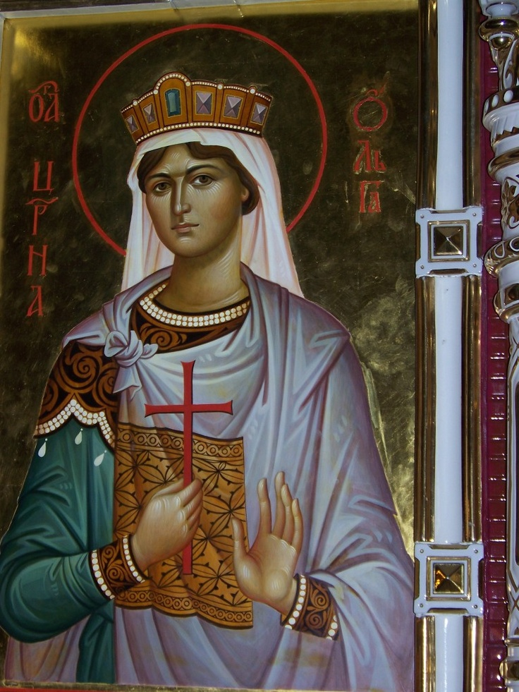 Grand Duchess Olga - - Church on Blood in Honor of All Saints Resplendent in the Russian Land - Ekaterinburg, Russia. Tatiana, Olga, and Alexandra wear white veils to recall their service as Red Cross nurses.