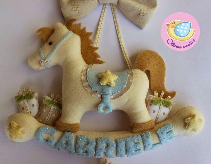 addobbi natalizi cavallino a dondolo feltro - Cerca con Google