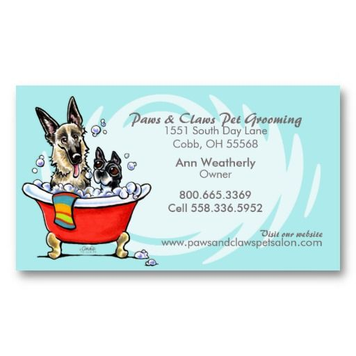21 best pet grooming business cards images on pinterest for Grooming business cards