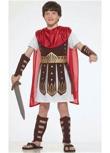 Fantasia de Gladiador Infantil Com Armadura