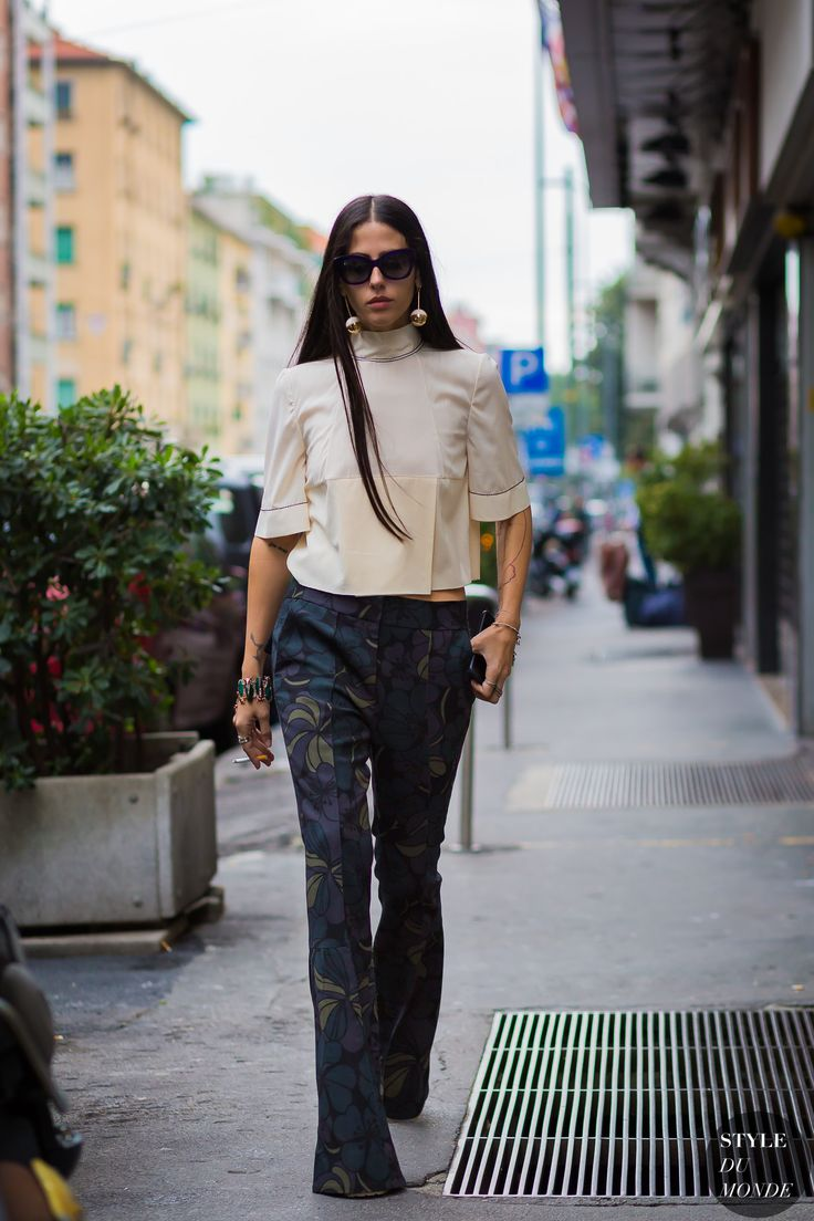 Milan Fashion Week Ss 2016 Street Style Gilda Ambrosio Fashion Pinterest