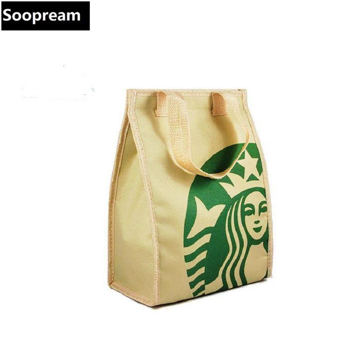 Starbuck refroidisseur sac d'isolation Thermique paquet portable déjeuner pique-nique sac épaississement thermique sein sac isotherme boîte