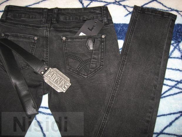 Черно-серые джинсы-варенка на болтах Lady N W0743 Jeans women dnepr