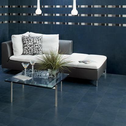 Dark Blue Midnight Sky Tile Floor For Living Room By American Olean Avenue One
