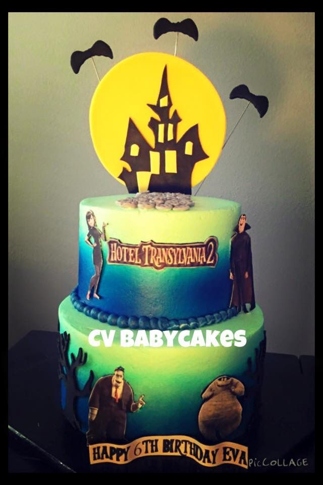 Hotel Transylvania 2 cake airbrushed and fondant accents