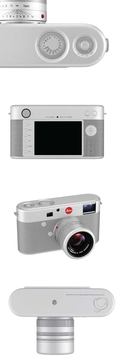 Leica Digital Rangefinder Camera designed by Jony Ive and Marc Newson