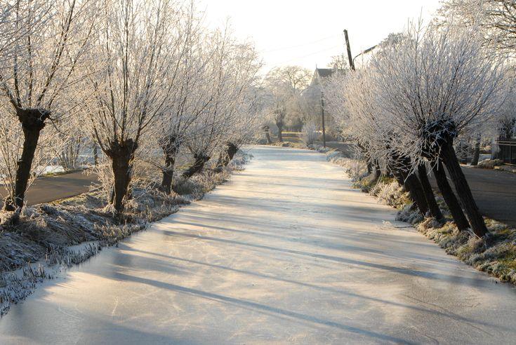 Krimpenerwaard winter in Holland