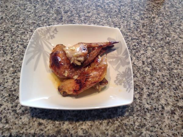 Receta de Alas de pollo en salsa de miel y mango.