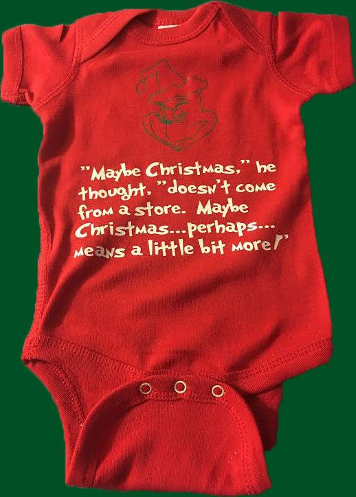 The Grinch baby Bodysuit, Grich Baby Clothes Christmas Baby Clothes Free Shipping