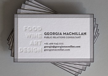 63 best the hungry workshop images on pinterest workshop georgia macmillian letterpress business cards reheart Image collections