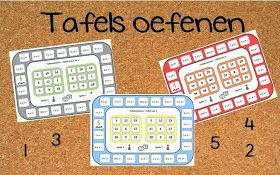 Juf Shanna: Tafels oefenen met tafelbingo!