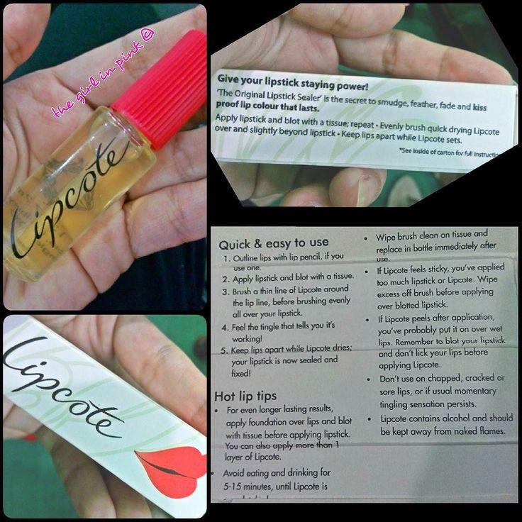 Lipcote lipstick sealer #lipcote #lipstick #sealer