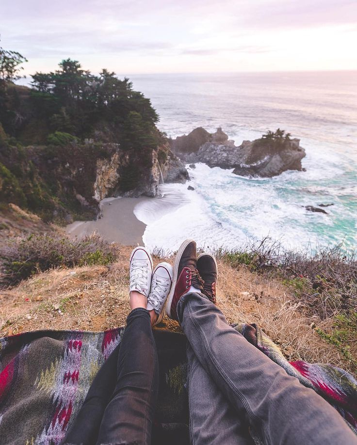 VancityWild cozy and comfortable at McWay falls.