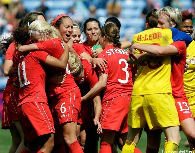 2012 Olympic Canadian Women's Soccer Team: Won a Bronze Medal, making it the first win for Team Canada in an organized sport in the history of the Olympic Summer Games.