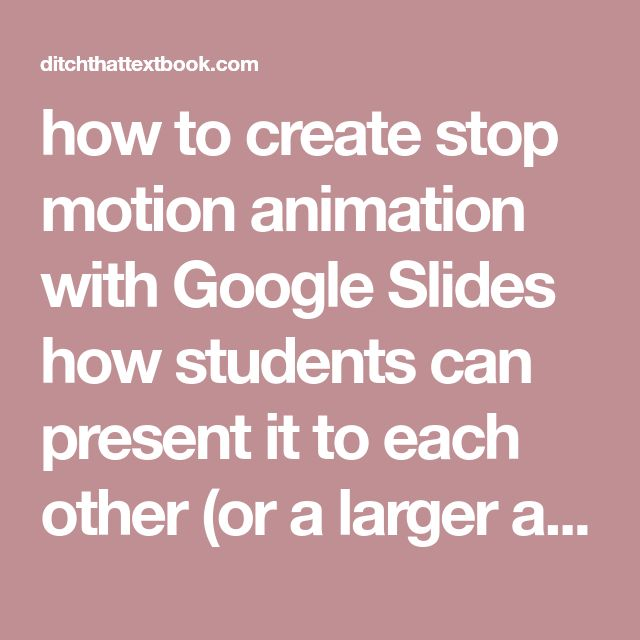 how to create stop motion animation