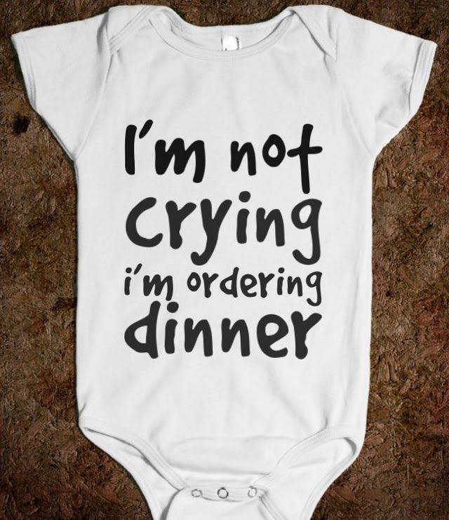 Dinner, Ninna I am so getting you this when you have a child! #funny #onesie #grappig #rompertje