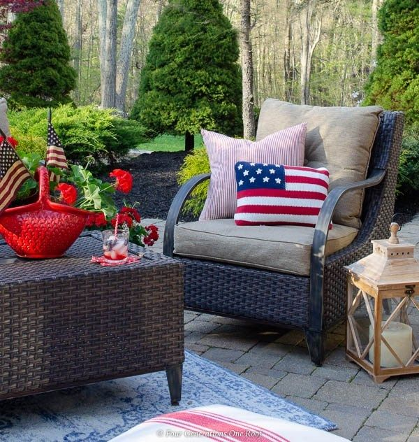 Classy Patriotic Decor Ideas On Our Patio Decor Patriotic