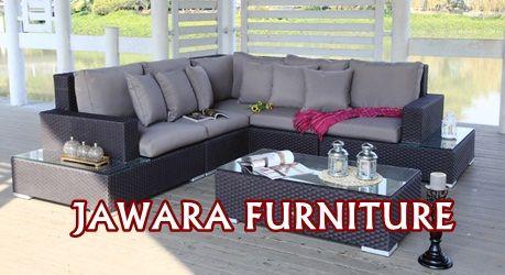sofa tamu corner sudut rotan sintetis