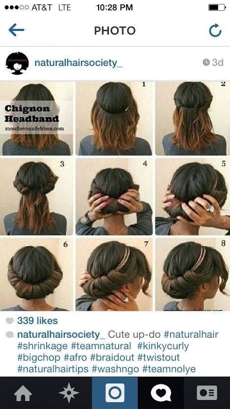 Cute and easy hairstyle for spring | Relaxed black hairstyles