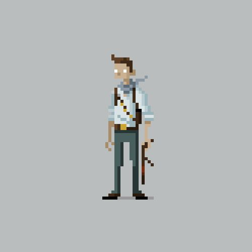 Pixel Video Game Characters for Kotaku by Michael Myers, via Behance