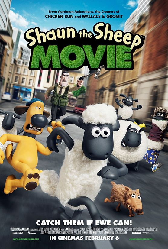 Shaun the Sheep Movie (Richard Goleszowski & Mark Burton, 2015) When Shaun decides to take the day off and have some fun, he gets a little more action than he bargained for, ending up in the Big City.
