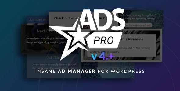 Ads Pro Plugin v4.01  Multi-Purpose WordPress Advertising Manager  Blogger Template