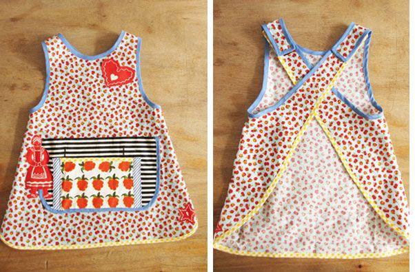 Een simpel en vrolijk kinderschortje naaien?